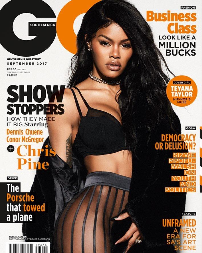 teyana taylor fade ass cover gq 2017 september good music